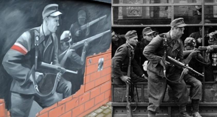 NEWS, Fatalna wpadka Łomiankach patriotycznym muralu sceny Rzezi - zdjęcie, fotografia