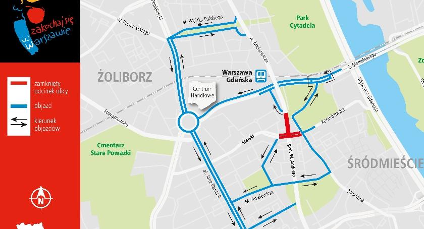 Skrzyżowanie ul. Stawki, Muranowskiej i gen. W. Andersa zamknięte do 22.08